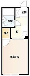 シティハイム桜台[1階]の間取り