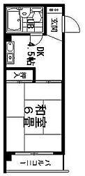 第5ロイヤルハイツ[4階]の間取り