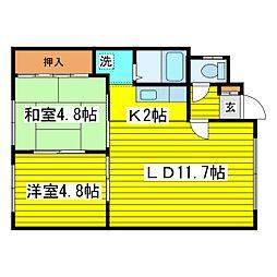 北海道札幌市東区北十三条東5丁目の賃貸アパートの間取り