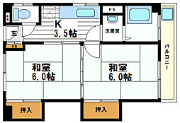 顕祥寺マンション[4階]の間取り