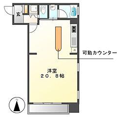 泉アパートメント[6階]の間取り