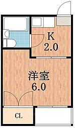 マンションいずみ[4階]の間取り