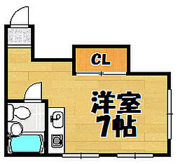 兵庫県川西市東多田1丁目の賃貸マンションの間取り