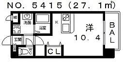 ヴィラルーチェ[702号室号室]の間取り