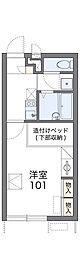 南海高野線 滝谷駅 徒歩13分の賃貸アパート 2階1Kの間取り