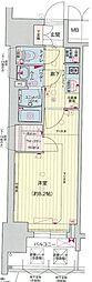 名古屋市営東山線 亀島駅 徒歩5分の賃貸マンション 2階1Kの間取り