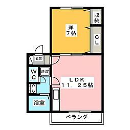 メゾン柿田 B[1階]の間取り