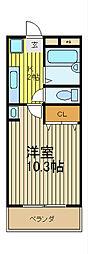 アーケティックマンションV[3階]の間取り