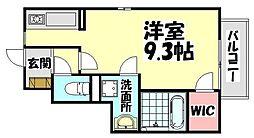 大阪府高石市千代田5丁目の賃貸アパートの間取り