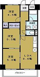 第9柴田ビル[6階]の間取り