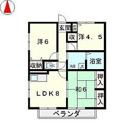 タナベマンションPART3[2階]の間取り