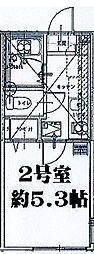 リーヴェルポート横浜南アジュール[202号室]の間取り