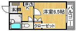 河正ハイツ[2階]の間取り