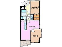 ラ・ボジョワールIII[3階]の間取り