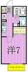 ポラリス[102号室]の間取り