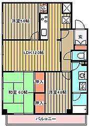 チェリーコート武蔵小金井[603号室]の間取り