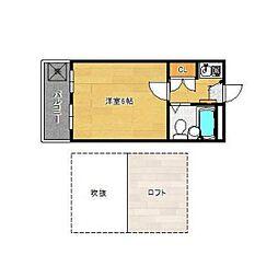 キャッスル勝田台[203号室]の間取り