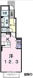 ブリーゼ(B棟)[1階]の間取り