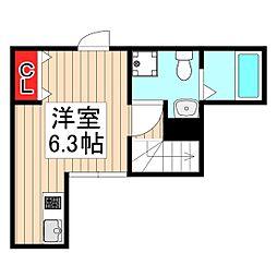 ヒルサイドレジデンス東武練馬 3階ワンルームの間取り