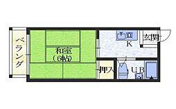 森田ハイツA棟[2階]の間取り
