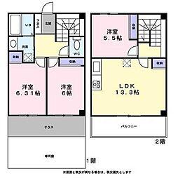 [タウンハウス] 東京都八王子市宇津木町 の賃貸【/】の間取り