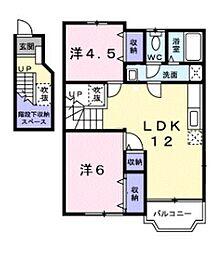 ローブレ オークラI[2階]の間取り
