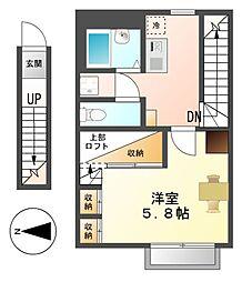 レオパレスリバティ[2階]の間取り