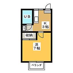 水崎ハイツPARTII[3階]の間取り