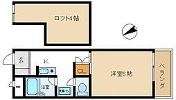 エンブレム熊取西[2階]の間取り