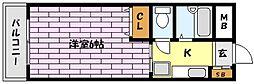 兵庫県神戸市東灘区鴨子ケ原2丁目の賃貸アパートの間取り