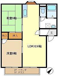 メゾンヨシコーD 201[2階]の間取り
