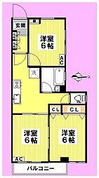 マンション大宮[3階]の間取り