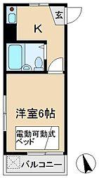 ハイツタバタ[2階]の間取り