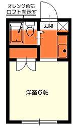 カスティル二宮A棟1階Fの間取り画像