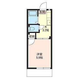 コーポ・サトーA棟[1階]の間取り