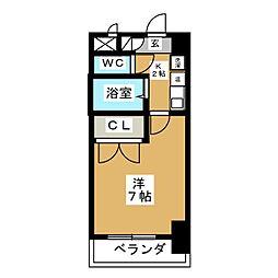 セントラルハイツ筒井[4階]の間取り