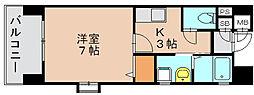 ピュアドームエタージュ箱崎[2階]の間取り