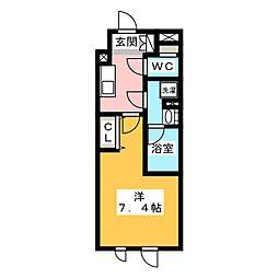 ストーリア文京大塚 4階1Kの間取り