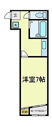 サンクレール天王寺[2階]の間取り