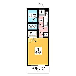 博文館B[1階]の間取り