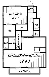 アールグレイB[1階]の間取り
