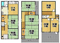 [一戸建] 大阪府大阪市大正区泉尾1丁目 の賃貸【/】の間取り