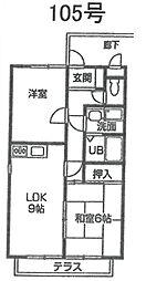 ハイツS&KパートIII[105号室]の間取り