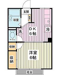 プチコートTAKABE[1階]の間取り