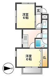 VIP・Y[2階]の間取り