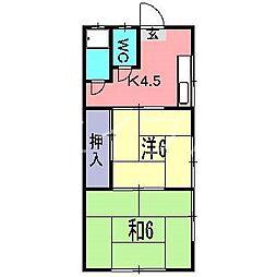 東雲荘[1階]の間取り
