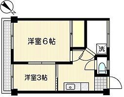 三福マンション[5階]の間取り