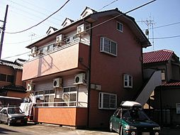 茨城県古河市下大野の賃貸アパートの外観