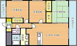 メゾンほおづき[6階]の間取り