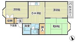 兵庫県赤穂市本水尾町の賃貸アパートの間取り